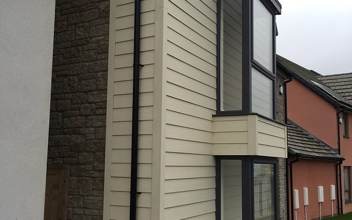 Exterior White Cladding