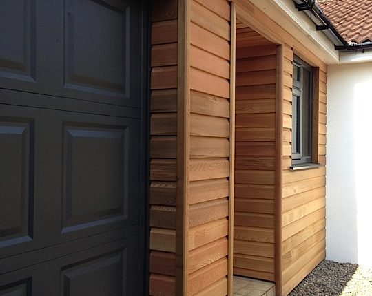 Completed Wood Cladding Project